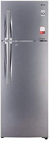 LG 335 L 3 Star Inverter Frost-Free Double Door Refrigerator (GL-T372JDS3, Dazzle Steel, Convertible)