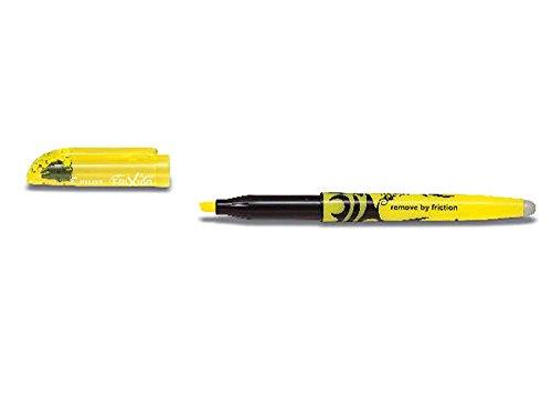 Pilot, evidenziatore cancellabile frixion (evidenziatore a penna) giallo (confezione da 3), fornito sciolto