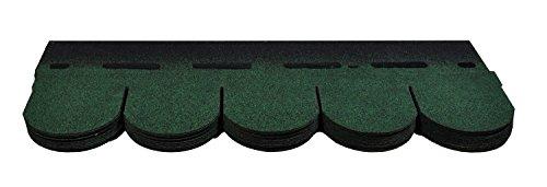 Bitumenschindeln Dachschindeln Biber Schindel Dachpappe Bitumen Glasvlies grün 2,32 m²
