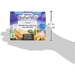 Nestlé Naturnes Cena Verduritas Selectas Con Merluza A Partir De 8 Meses - Pack de 2 x 200 g - Total: 400 g