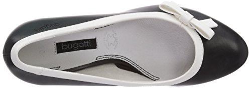 Bugatti - W66796n, Chaussures Plateforme Noires (schwarz / Weiss 111)