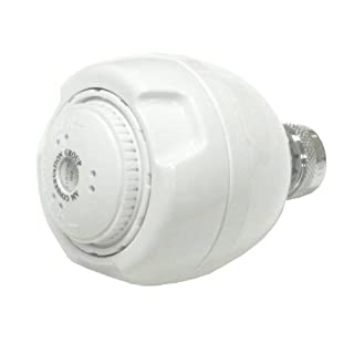 AM Conservation Group, Inc. SH030W15ZWS Simply Conserve Low Flow 1.5 GPM WaterSense White Spoiler Showerhead