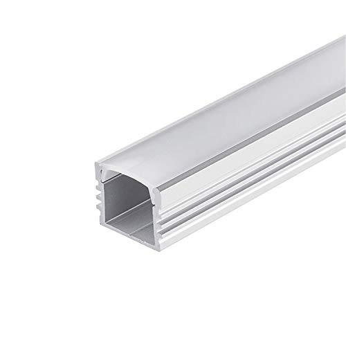 ALU Profil - LED für Stripes/Streifen Abmessung:2000mm x 17mm x 13mm (Alu Profil silber inkl. milchiger/opaler Abdeckung für LED Stripe)