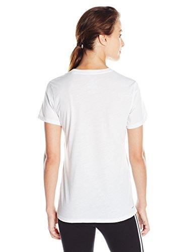 Adidas Veste de sport pour femme Ultimate col en V à manches courtes pour blanc/noir