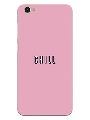Vivo Y55S Back Cover- Take A Chill Pill - Quote - Hard Shell Back Case  available at amazon for Rs.469