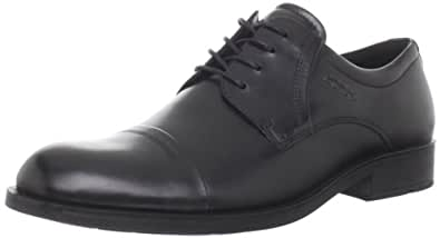 ECCO Men's Birmingham Cap Toe Shoes, Black, 10 UK