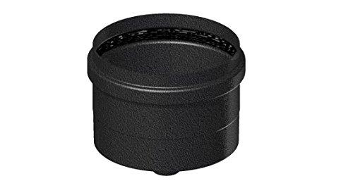 Comptes–senotherm noir mat d. 100Céramique SP. 1,2pour cuisinières à pellet–Tube courbe accessoires–-Élément droit L. 500mm