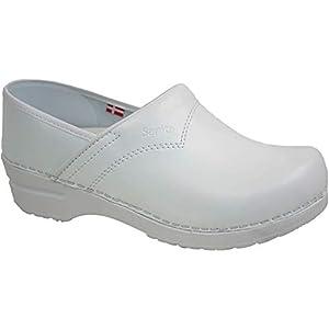 Sanita 812437 313 Flex Clog - Scarpe con tacco chiuso, numero 37, colore: Bianco