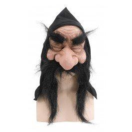 Bristol Novelty Zwerg-Maske mit Kapuze und Bart, ()