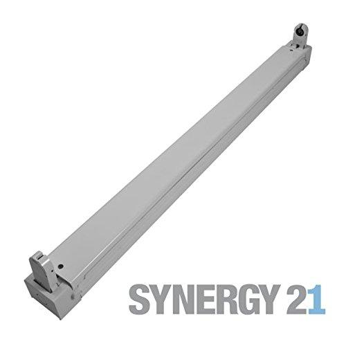 Mount Tube Socket (Synergy 21s21-led-000635Lightbulb Socket–Light Mounts & Zubehör (Lightbulb Socket, Grey, IP20, RoHS, CE, LED, T8))