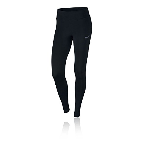 Nike Damen Power Essential Running Tights, Black, L Nike Kompressions-hose