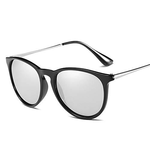 QDE Sonnenbrillen Polarisierte Sonnenbrille Frauen Männer Gold Rose Spiegel Sonnenbrille Für Damen Vintage Shades Uv400, Silber
