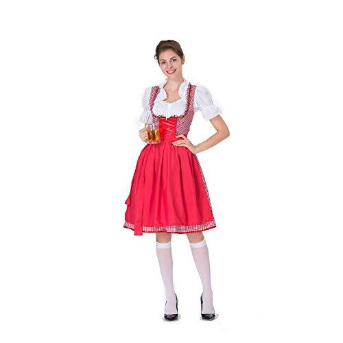 Mädchen Bier Zombie Kostüm - Halloween Cosplay Kostüm Erwachsene Cosplay Große Größe Bier Mädchen Kleid Gestaltung Bühnenkostüm Maid Kostüm Geeignet Für Karneval Thema Parteien,Pink,S