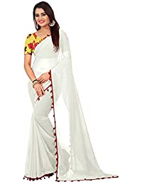 High Glitz Fashion Women's Georgette Sari With Blouse Piecs