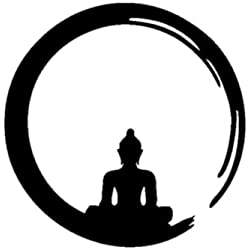 Vinilo Decorativo Buda Zen S .(30x30cm aprox.) color negro.