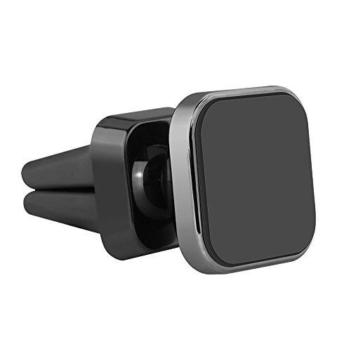 Pococina Handyhalterung Auto KFZ 360 Grad Drehbarer Aluminium Magnet Autohalterung Universal für GPS-Gerät, iPhone, Samsung und andere Smartphones - Grau