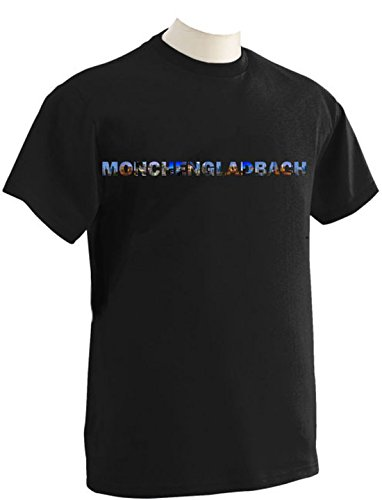 T-Shirt mit Städtenamen Mönchengladbach Schwarz