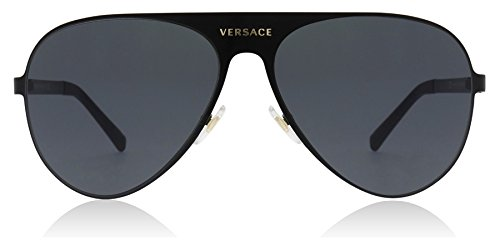 Versace 142587, occhiali da sole unisex-adulto, nero (matte black), 59
