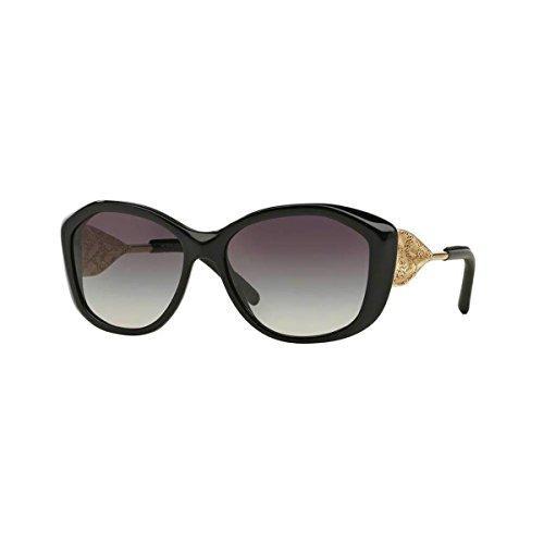 Burberry Unisex BE4208Q Sonnenbrille, Gestell: schwarz, Gläser: grau-verlauf 30018G), Large (Herstellergröße: 57)
