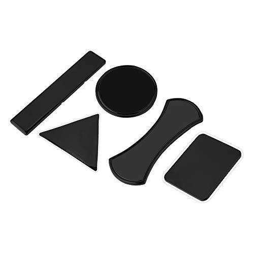 Mehrzweck-Nano-Gummi-Aufkleber Gel Pad, Anti-Rutsch-Wiederverwendbare klebrige Handyhalter Matte, Waschbar Auto Auto Pads Halter für Glas, Spiegel, Whiteboards, Wand, Küche. (Schwarz)