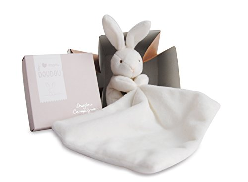 Image of Doudou et Compagnie 10 cm Natural Rabbit and Towelling Doudou with Gift Box