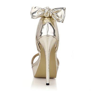 LvYuan Damen-Sandalen-Hochzeit Kleid Party & Festivität-PU-Stöckelabsatz-Komfort-Silber Gold Gold