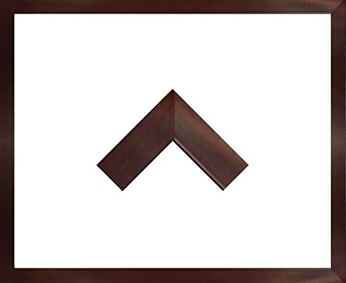 Massivholz-Bilderrahmen Jersey 57 x 77 cm. Fertigung nach Maß in verschiedenen Farben. Hier: Dunkelbraun Ohne Verglasung