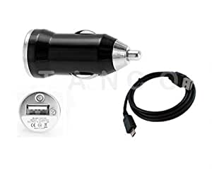 Tanco Impex Mini In Car Charger +Micro USB Cable For HTC Wildfire S