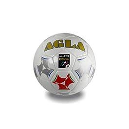 AGLA Bola Five, Pallone Unisex – Adulto, Bianco, 3.7