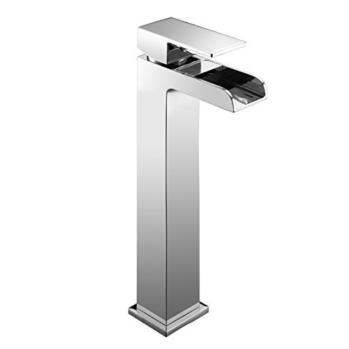 Modern Square Open Spout Tall Basin Mixer Tap (Sire 7) by Grand Taps