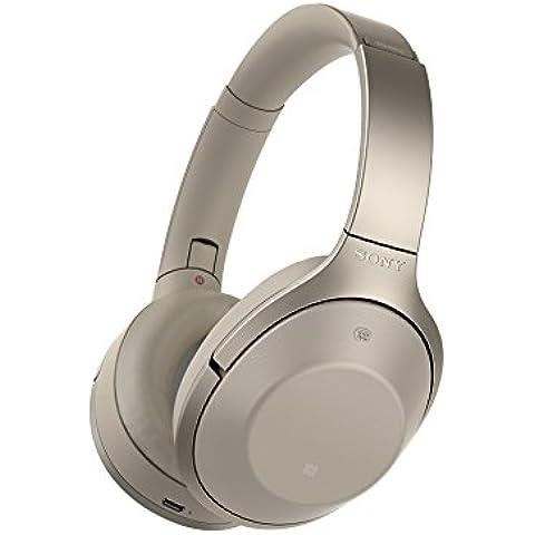 Sony MDR1000XC.CE7 - Auriculares de diadema inalámbricos cerrados con Bluetooth (Hi Res Audio, función reducción de ruido, voz ambiental y sonido ambiental, control táctil), color gris