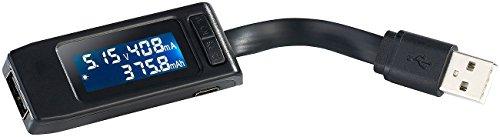 revolt USB Messgerät: USB-Leistungsmesser/Multimeter mit Überlade- & Überspannungs-Schutz (USB Spannungsmesser)