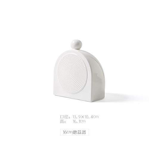 NiNnn Einfache kreative Schleifen Ingwer Schleifen Knoblauch japanische und koreanische Keramik Knoblauch Knoblauch Saft Knoblauch Sauce Küchengeräte, 16 cm (Chopper Koreanische)