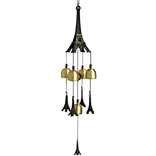 AOOPOO Eiffel Tower Wind Chimes - Classic Retro Copper Bells Wind Chimes Window,Door,Store, Home Hanging Decorations(Five Copper Bells)