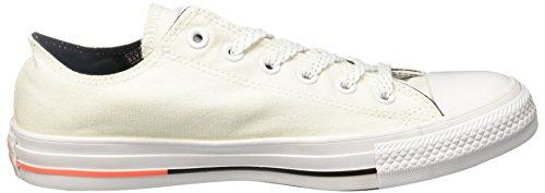 Converse 153797 Chuck Taylor All Star Unisex Sneaker (Navy) White/Lava/Black