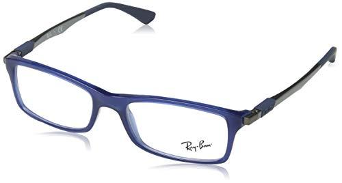 Ray-Ban Herren 0RX7017 Brillengestelle, Blau (Transparente Blue), 52