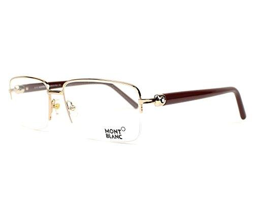 Preisvergleich Produktbild Montblanc Brillen Für Mann 0487 028, Shiny Rose Gold Metallgestell, 60mm