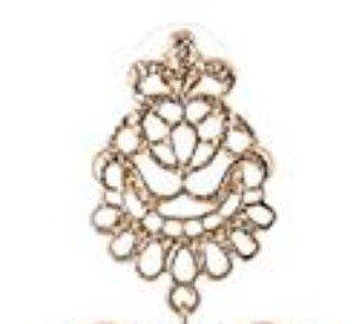 Lange Linayo® Gold Farbene Viktorianische Vintage Style Barock Spitzen Ohrringe, ohrstecker - 5