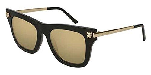 ... cartier lunette de soleil - femme or black gold-bronze mirror 50 ... 55379a71723f