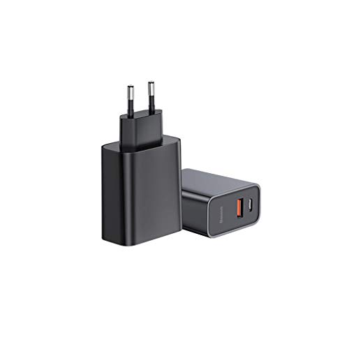 Dkings USB Typ C Ladegerät, Netzteil, USB-C PD 30W QC3.0 für USB-fähige Geräte, für iPhone, iPad, iPad Mini, Samsung Phone, Microsoft Zune, Handy, PDA, Digitalkamera/Camcorder und Mehr (Black) - Dell Digital Pda