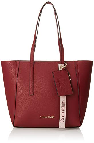 4f78e824c0fa Calvin Klein Jeans Ck Base Medium Shopper, Sacs portés épaule Femme, Rouge  (Red Rock), 16x28x42 centimeters (B x H x T)