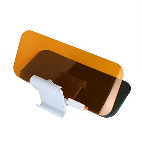 Wjw 2 in 1 HD Vision Auto Anti-UV-Block Visier Schutz Fahren Anti-Dazzle Sonnenschutz Spiegel Schutzbrillen Shield Board Tag und Nacht Anti-Glare Visier