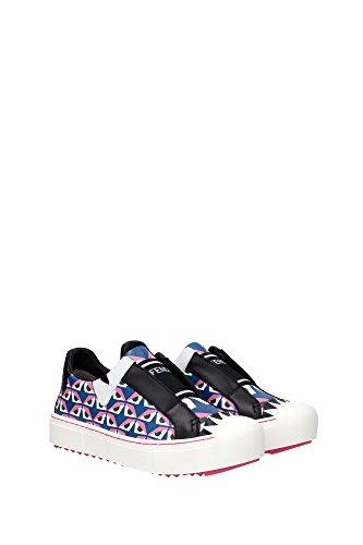 8E510891HF073W Fendi Sneakers Femme Cuir Multicouleur Multicouleur