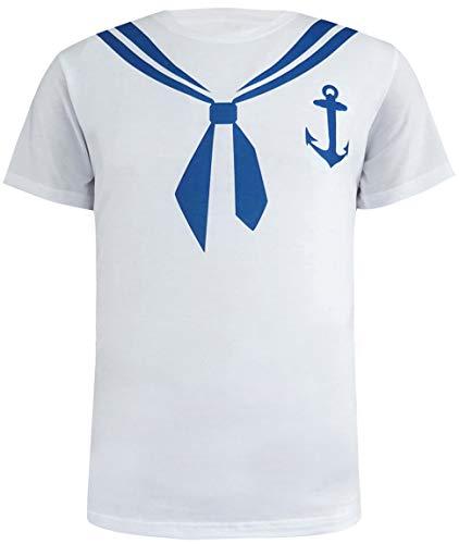 Cosavorock Herren Seemann Kostüm T-Shirts (M, Sailor)