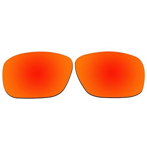 ACOMPATIBLE Ersatz-Objektive für Oakley Sonnenbrille Tincan OO4082, Fire Red Mirror - Polarized