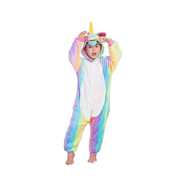 69edb293f7f3f Enfant Pyjama Unisexe Onesie Kigurumi Animaux Licorne Cosplay Costume  Combinaison Vetements de Nuit pour Taille 90 ...
