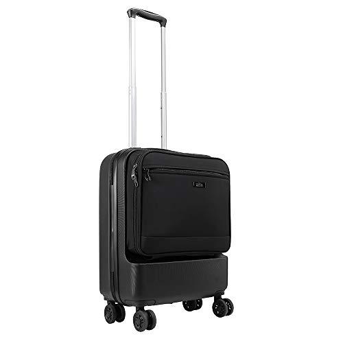 Cabin Max Fusion Bagaglio da cabina in ABS con tasca frontale ad accesso rapido - Trolley da Viaggio con 4 ruote 55x40x20 - Leggero 3,3 kg Capacità 38 litri - Per Viaggi di Lavoro
