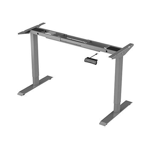 Zurück Pulverbeschichtet (Flexispot ED2S Höhenverstellbarer Schreibtisch Elektrisch höhenverstellbares Tischgestell, passt für alle gängigen Tischplatten. Mit Memory-Steuerung und Integriertes Anti-Kollisionssystem)