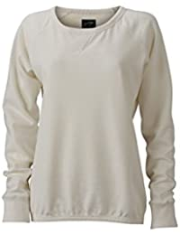 James & Nicholson Women's JN991 Basic Sweatshirt off-white S