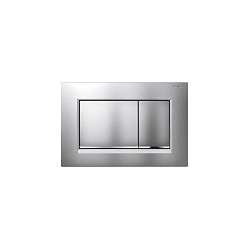 Preisvergleich Produktbild Geberit Revisionsplatte Sigma 30 | Betätigungsplatte mit Zwei-Mengen-Spülung | Drückerplatte | Matt-Chrom | 115883KN1